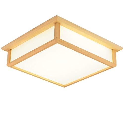 YANQING Duurzame Plafondlampen LED Plafondlamp Pine Aisle Slaapkamer Woonkamer Energiebesparende Plafondlamp Vierkante Plafondverlichting Plafondlampen (Kleur : Wit Licht)