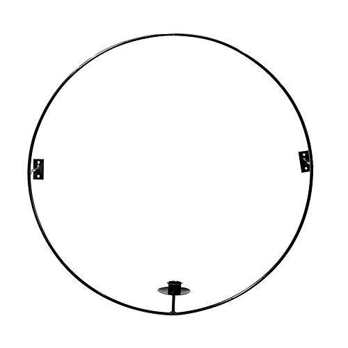 Storefactory - Gullabo - Kerzenleuchter, Wandkerzenleuchter - Grau - Metall - Maße (ØxH): 50 x 8 cm