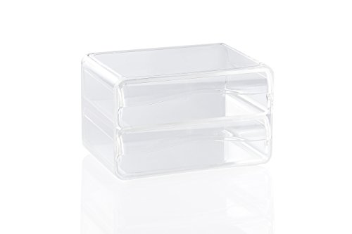 Better Houseware - Cajonera apilable (2 cajones), Transparente