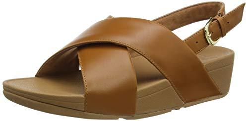 Fitflop Lulu Cross Back-Strap Sandals-Leather, Sandalias con Tira Trasera Mujer