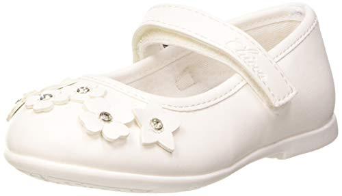 Chicco Clora, Ballerine con Cinturino alla Caviglia Bambine e Ragazze, Bianco (Bianco 300), 29 EU