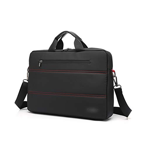 KLFD Premium Wasserfeste Laptoptasche Schützende, Leichte Polyester-Notebook-Tasche Mit Großer Kapazität Für Netbook, Aktentasche Für Tablets Tablet-Hülle Kompatibel Mit 15 Zoll,Schwarz