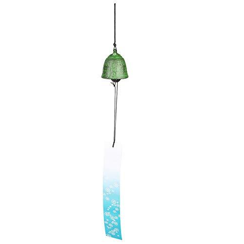 AUNMAS Heroic Chime Estilo japonés Furin Hermoso Sonido Antiguo Reloj Hierro Forjado Windbell para jardín Patio Balcón Decoración