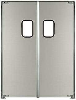 Strip-Curtains.com: Aluminum Swing Door - 48 in. (4 ft) width X 84 in. (7 ft) height - Biparting - E Hinge Type