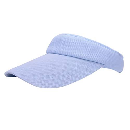 TEBAISE Unisex Flexible Sommer Hüte Sonnenhut Einheitsgröße Strandhut Headsweats Sport Golf Tennis Visor Cap Baseballhut Sonnenblende Einfach Hut Kappe Mütze für Männer Frauen