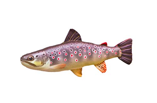 BROWN TROUT Pillow / Cushion - Fishing Angling Gift Fathers Day Soft Toy