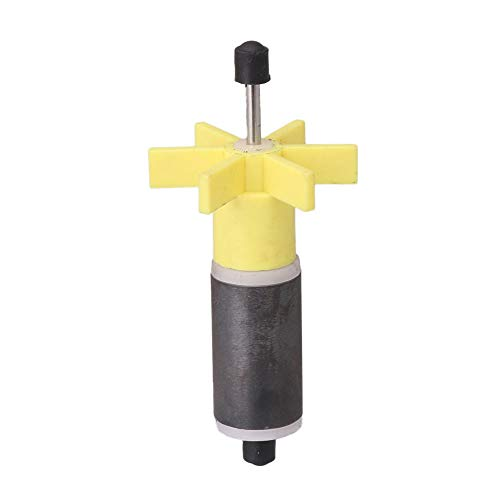 Submersible Pump Rotor Impeller with Shaft and Bearing Replacement Magnetic Filter Yellow 15.5mm