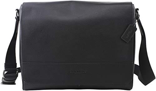 Coach Men's Houston Messenger Black Leather, Style F68017