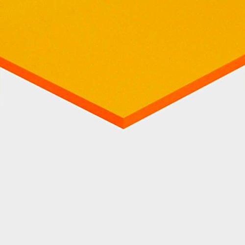 3 mm PLEXIGLAS® gelb 1C33 GT, transparent mit einer Lichtdurchlässigkeit von 63% - hohe Lichtdurchlässigkeit - Maße: 25x25x0,3 cm