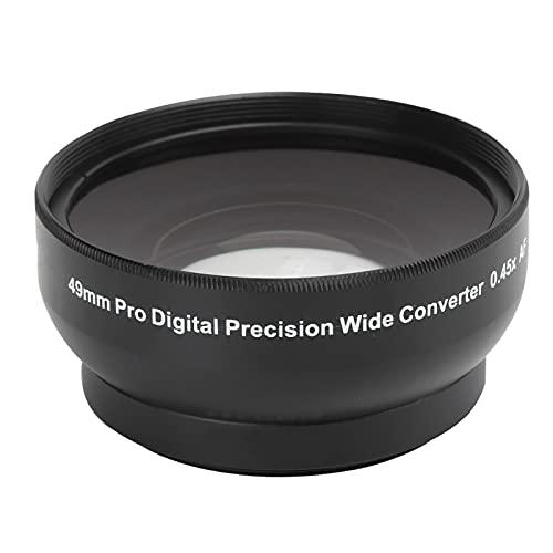 VBESTLIFE 49 Mm 0,45X Objektiv, Optisches Glas Kamera 0,45X Weitwinkelobjektiv für 49 Mm/1,9 Zoll Objektiv und 62 Mm/2,4 Zoll Filter