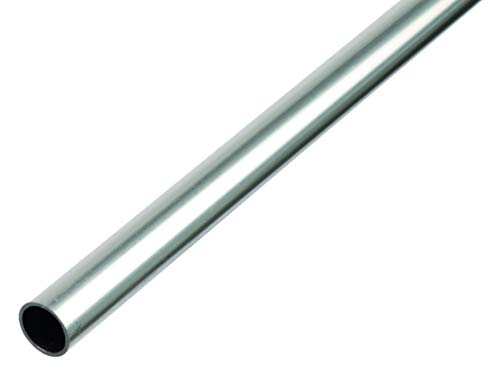 GAH-Alberts 472481 Rundrohr | Aluminium, natur | 1000 x 8 x 1 mm