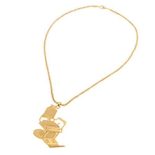 SDENSHI Cadena de Asiento Ajustable con Collar Colgante de Silla de Peluquero de Coche de Aleación de Oro Premium