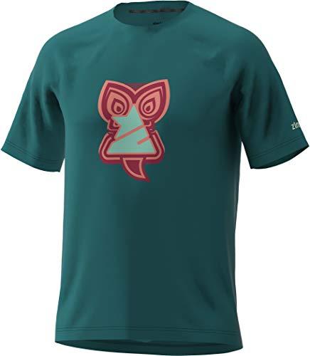 Zimtstern Hakaz T-Shirt Herren Pacific Green/Jester red/Living Coral Größe S 2020 Kurzarm Shirts
