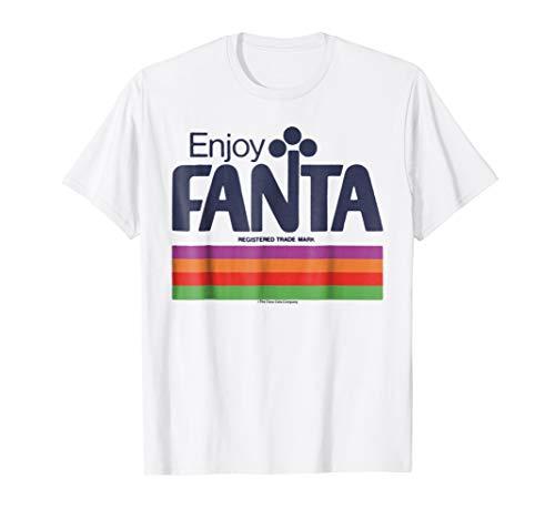 Coca-Cola Fanta Retro Multi Color Stripe Graphic T-Shirt