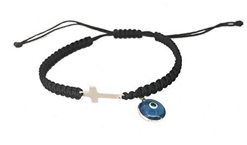 DIY Armband Armkette *925 Sterling Silber *Kreuz Auge Nazar* verschiedene Farben Handmade