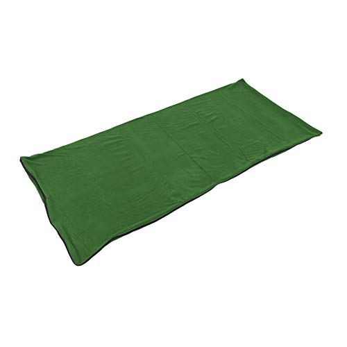 Polar Fleece-Schlafsack, Warme Und Kuschelige Mikrofaser-Fleece-Anti-Pilling-Schlafsack Mit Reißverschluss Liner Für Erwachsene Und Kinder Outdoor Camping Wandern Reisen (Militärgrün) ( Farbe : Grün )