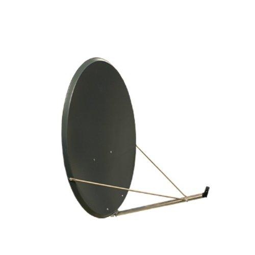 PremiumX Antenne XTS 110 cm Stahl Digital Sat Schüssel Spiegel in Anthrazit FULLHD HDTV 3D tauglich