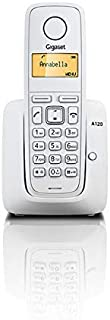 Gigaset A120 Cordless Phone with 18 Hrs Talk Time,200 Hrs Standby,50M Indoor & 300M Outdoor Range,50 Contact Storage,Made ...