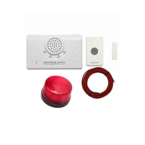 Warehouse Doorbell WDK ERA STROBE- Commercial Wireless Doorbell System with Flashing Strobe Light for Noisy & Hearing Impaired Environments - Ideal for Industrial, Manufacturing, Production & Retail