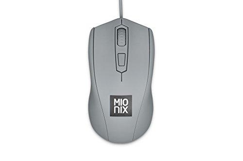 Mionix mnx-01–27009-g Avior-– 4Button Maus beidhändig tragbar optische RGB Gaming Maus. 1 grau Shark Fin