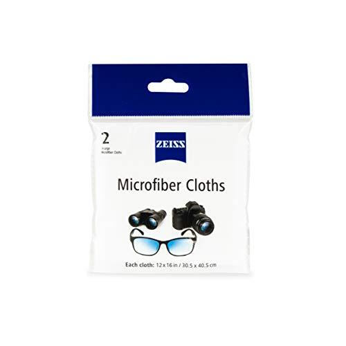 Zeiss Jumbo Reusable Microfiber Lens Cloth, 12x16in (Set of 2)