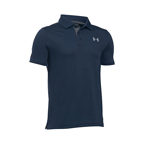 Under Armour Boys' Performance Polo, Academy /Steel, Youth X-Large