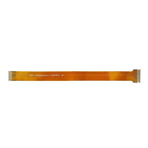 Rouku Línea de cámara plana flexible de conexión de cable de cinta FFC para Raspberry Pi Zero Pi0 V1.3 W/H de repuesto (amarillo) (15 cm)