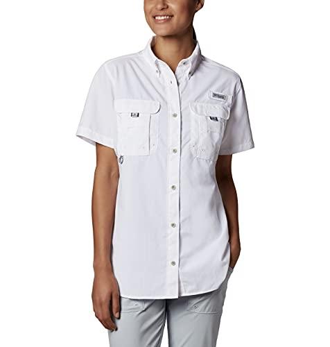 Columbia Women's PFG Bahama Short Sleeve Shirt , White, Small