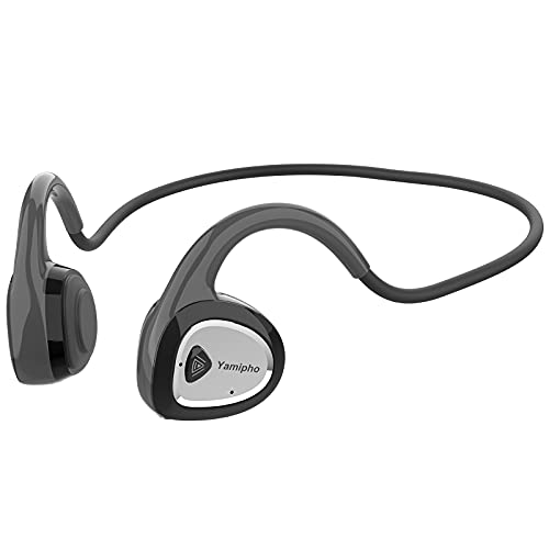 YAMIPHO 骨伝導イヤホン Bluetooth5.0 ワイヤレスイヤホン 自動ペアリング 耳掛式 スポーツイヤホン ブルートゥース マイク内蔵 CVC8.0ノイズキャンセリング 超軽量 最大240時間待ち受け 6時間連続再生 IPX5防水防滴 音量調節