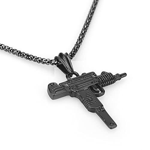 ADON Joyería de la manera de la joyería de oro del arma de cristal de los hombres Hip Hop cadena collar colgante accesorios de regalo
