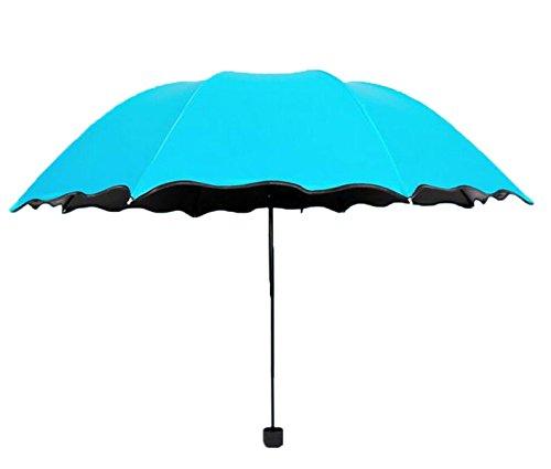 Parapluie Vinyle Parasol Pliant Parapluies Parasol Parapluie Et Plus Léger,Blue