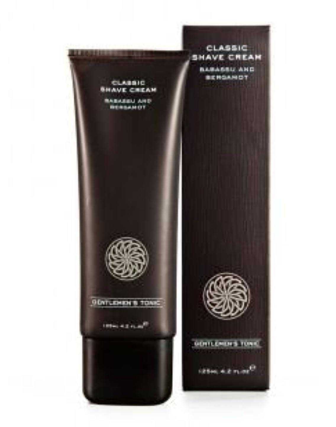 始めるいつ合理化Gentlemen's Tonic ジェントルメンズトニック Classic Shave Cream (クラシックシェーブクリーム) 125ml