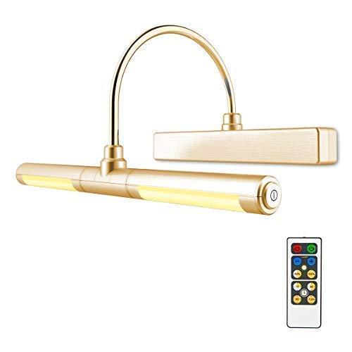 HONWELL Luz de Pintar Remota,Luz de Espejo,Aplique Pared Baño,Alimentada por Batería AA...