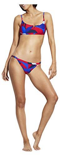 Seafolly Women's Brazilian Bikini Bottom Swimsuit with Skimpy Sides, Aloha Chilli, 4 US