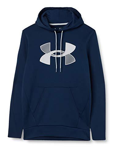 Under Armour mens Armour Fleece Big Logo Hoodie , Academy Blue (408)/Black , Medium