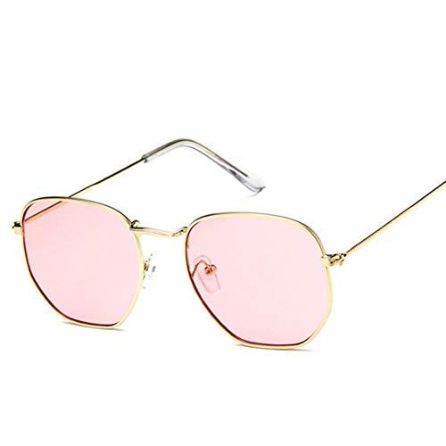 Gafas de sol de las mujeres Retro Pequeño Oval Gafas de sol de las Mujeres de la Vendimia Tonos de Metal Rojo Espejo de Colores Gafas de Sol Para Mujer de la Moda Diseñador Uv
