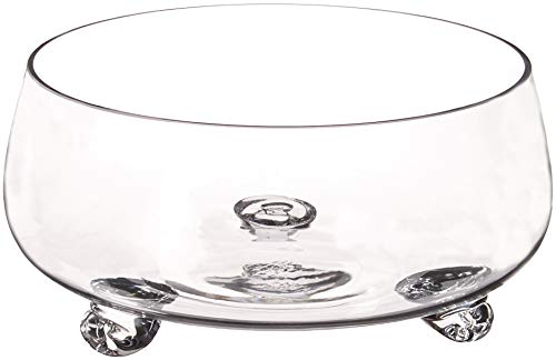 Diamond Star Glass 10.5'Dx5' clear Footed Bowl