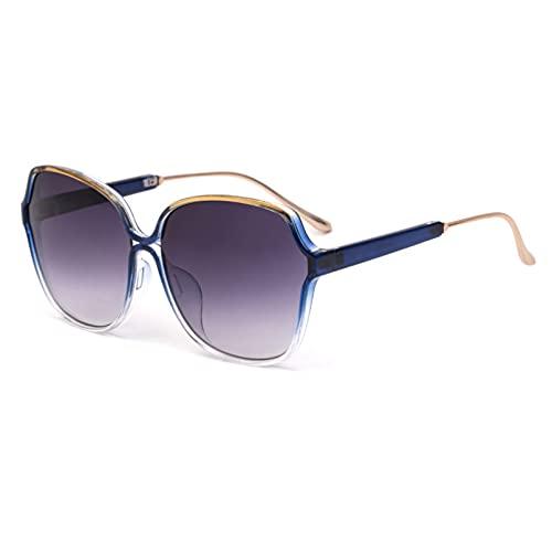 BAJIE Gafas de Sol Gafas de Sol con Estampado de Leopardo de Mariposa con Montura Grande Gafas de Sol de Moda para Mujer