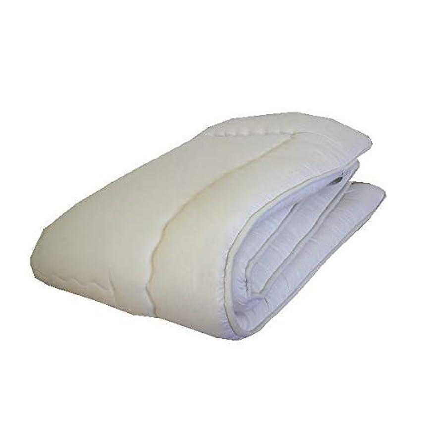 フラップ擬人ブラケットエブリ寝具ファクトリー 日本製 ホコリが出にくい 清潔 敷き布団 セミダブルロング きなり (無地) ふかふか ボリュームアップ 固綿 合繊 敷布団 4つ折りタイプ