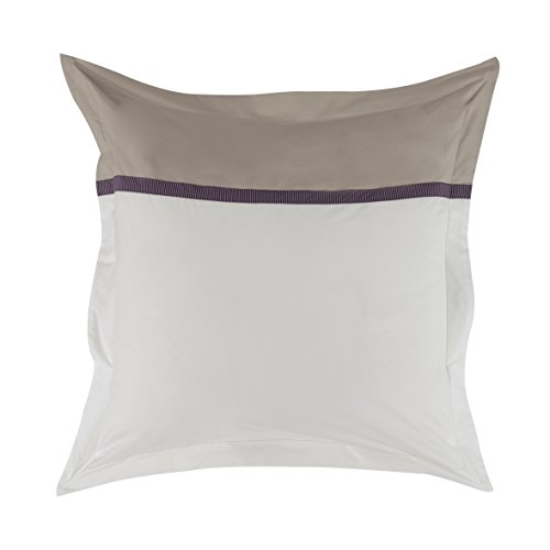 Essix - Taie d'oreiller Toi & Moi Zahara Percale de Coton Meringue 64 x 64 cm