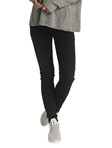 PIECES Damen PCFIVE DNM V201 MW SKN BLK TB/NOOS Skinny Jeans, Schwarz (Black Black), 34 (Herstellergröße: XS)