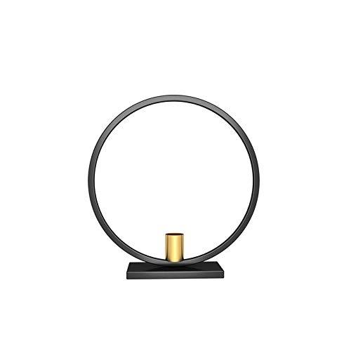 SMXGF Iron Black Gold Candle Holder Bar Wedding Party Decor van het Huis Ronde Simple Kandelaar (Color : 3 23CM)