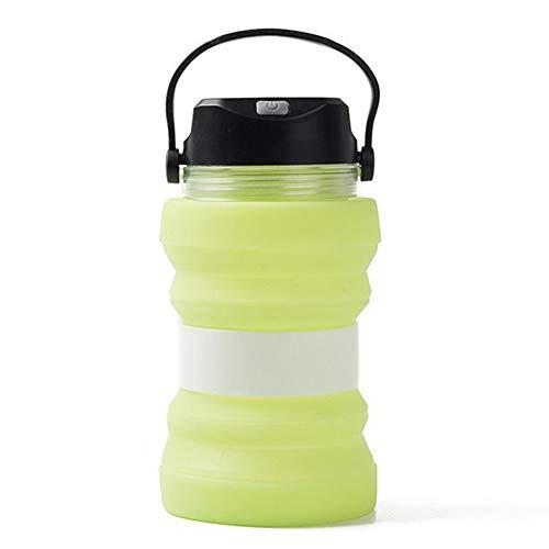 Yiwa Solar-Wasserkocher, für Campingzelt, kreativ, beleuchteter Tasse, faltbar M Grün 9 x 18 cm