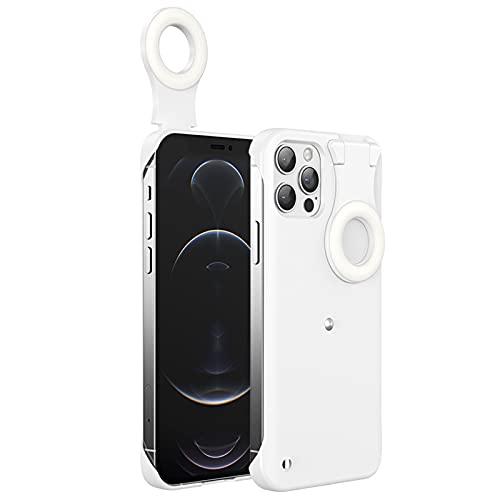 lefeindgdi Funda para teléfono móvil, funda para teléfono con luz de relleno, multifunción, portátil, suave, cómoda y duradera para Daliy Life iPhone 12/iPhone 12 Pro / iPhone 12 Pro Max