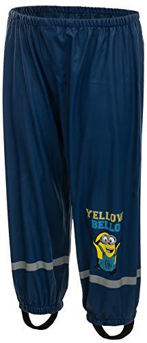 Brandsseller Pantalones de lluvia para niños con motivos de Star Wars, Sam, la Patrulla Canina Minions - Azul Oscuro 98-104 cm