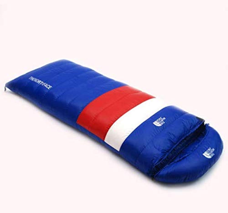 HoEOQeT Umhüllender ultraleichter Erwachsener im Freien wandern kampierender Warmer Gnsedaunwinter unten Schlafsack