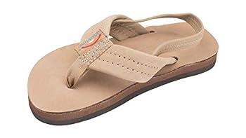 Rainbow Sandals Kid s Single Layer Premier Leather Sandals Sierra Brown w/backstrap Kid s 7-8 B M  US