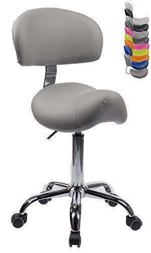 1stuff® Sattelhocker Sattelstuhl MULY BIGBACK - ergonomisches Sitzen bis ca. 74cm -...