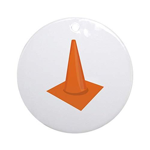 QgjayjqQ Traffic Cone Ornament (Round) Personalized ceramic Holiday Christmas Tree Ornaments Ideas 2019
