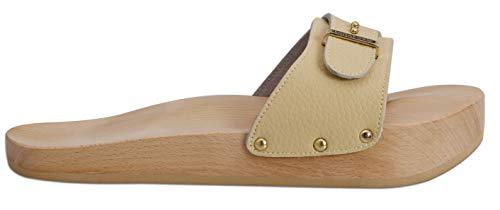 Lanaform Dynastatic ® - Chaussures Minceur Anti-Cellulite/Effet raffermissant (Crème, Numeric_37)